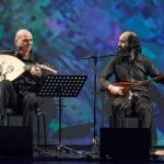 Kalaitzides and Tabassian performing