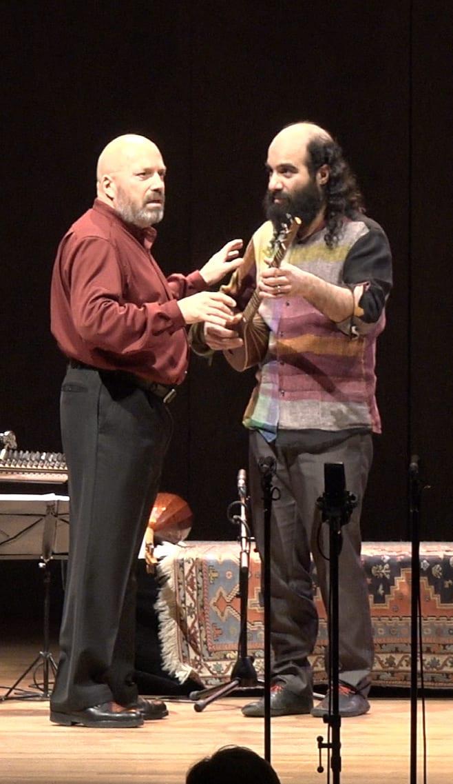 Marco Beasley and Kiya Tabassian performing